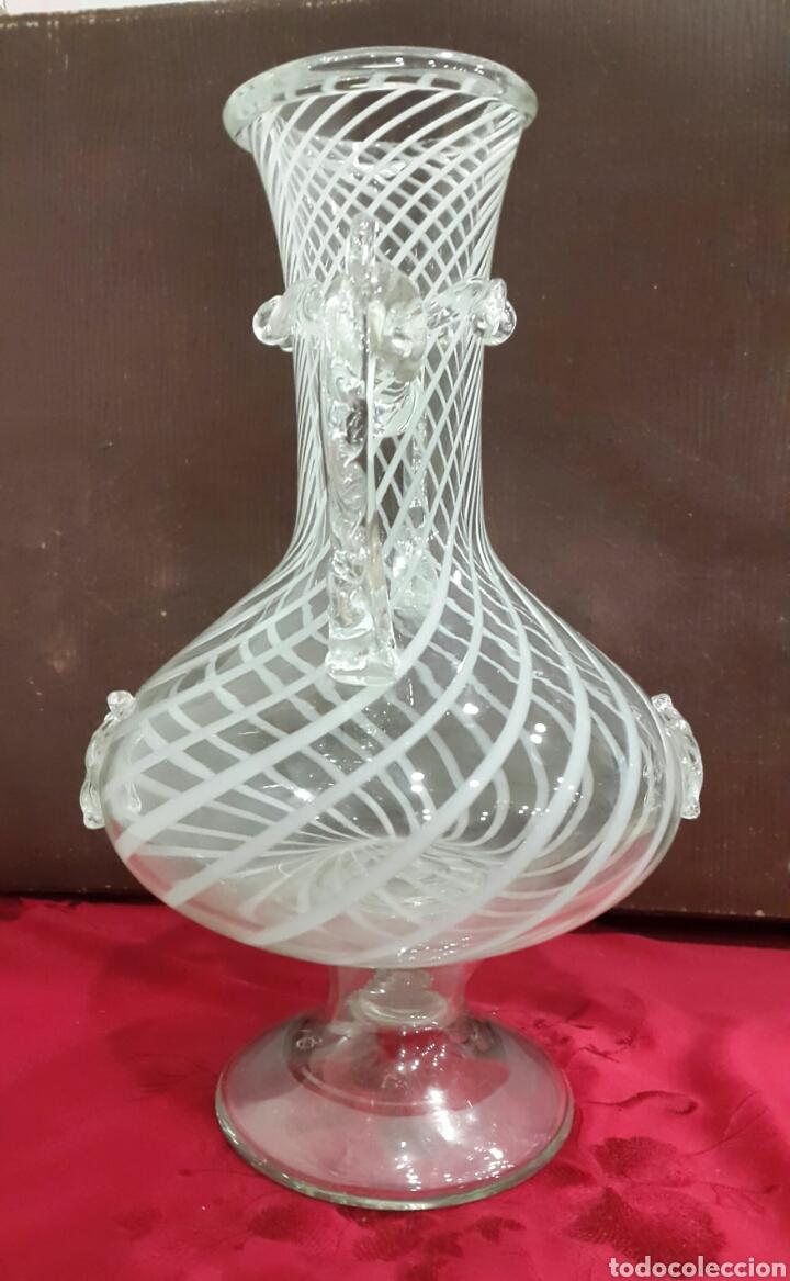 Antigüedades: JARRÓN JARRA DE CRISTAL SOPLADO VIDRIERA CATALANA - Foto 3 - 107836456