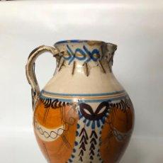Antigüedades: JARRA DE TALAVERA. SERIE DE PABELLONES. S.XIX. . Lote 107836543