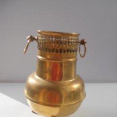 Antigüedades: JARRON DE BRONCE, LATON DE 20 CM DE ALTO. Lote 107845571