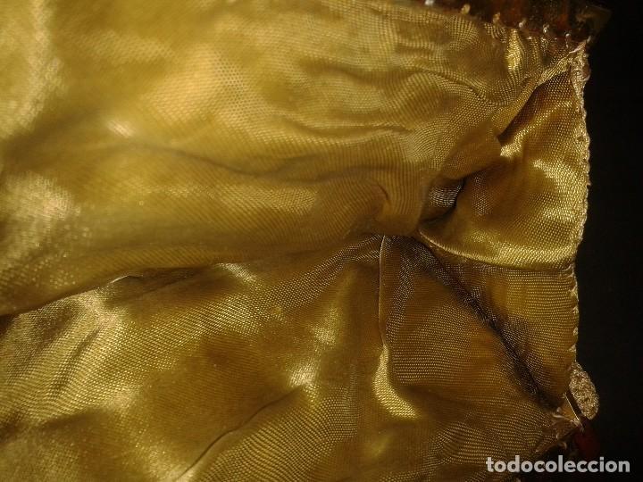 Antigüedades: Bolso de mano dorado diseño art deco años 40-50, antiguo s XX - Foto 7 - 107851895