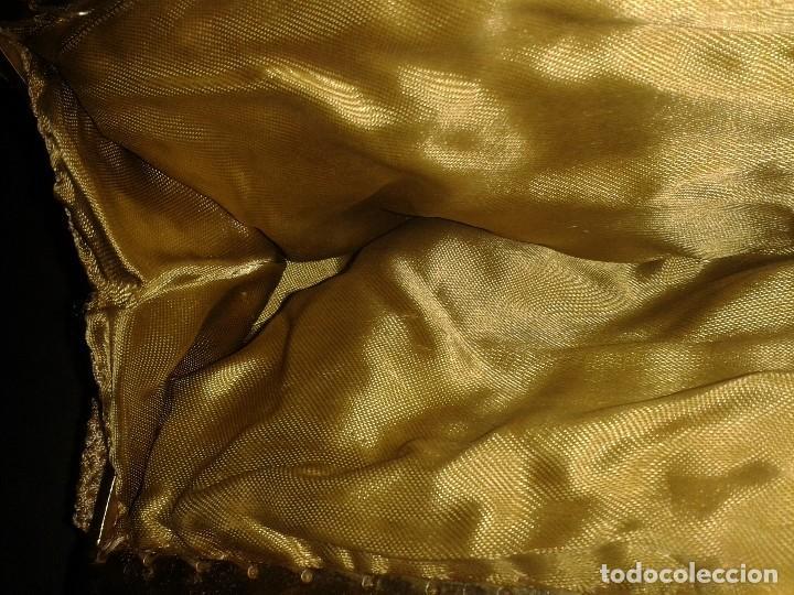 Antigüedades: Bolso de mano dorado diseño art deco años 40-50, antiguo s XX - Foto 8 - 107851895