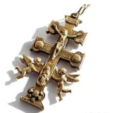 Antigüedades: CRUZ DE CARAVACA SIGLO XVIII - 14 X 6,8 CM. Lote 107855527
