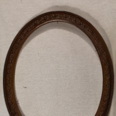 Antigüedades: MARCO OVAL EN RESINA COLOR MARRON. Lote 107870571