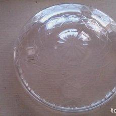 Antigüedades: TULIPA GRANDE DE CRISTAL TALLADO PARA LAMPARA. Lote 107870683