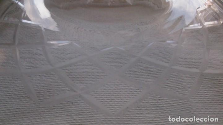 Antigüedades: TULIPA GRANDE DE CRISTAL TALLADO PARA LAMPARA - Foto 5 - 107870683
