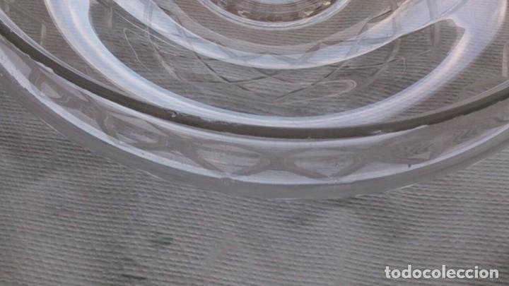 Antigüedades: TULIPA GRANDE DE CRISTAL TALLADO PARA LAMPARA - Foto 7 - 107870683