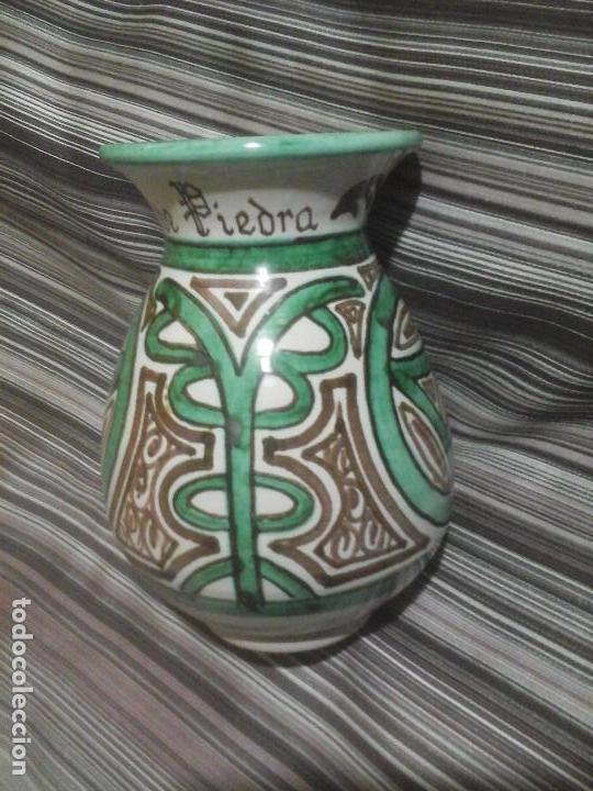 JARRÓN CERÁMICA TUROLENSE DOMINGO PUNTER, MONAST. DE PIEDRA (Antigüedades - Porcelanas y Cerámicas - Teruel)
