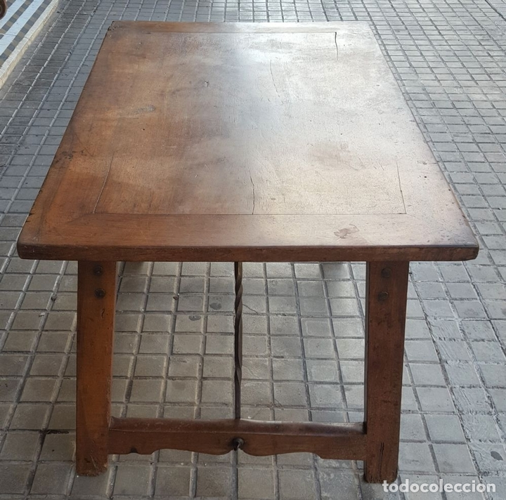 Antigüedades: MESA CASTELLANA. MADERA DE NOGAL. ESPAÑA. SIGLO XVIII-XIX. - Foto 8 - 107909131