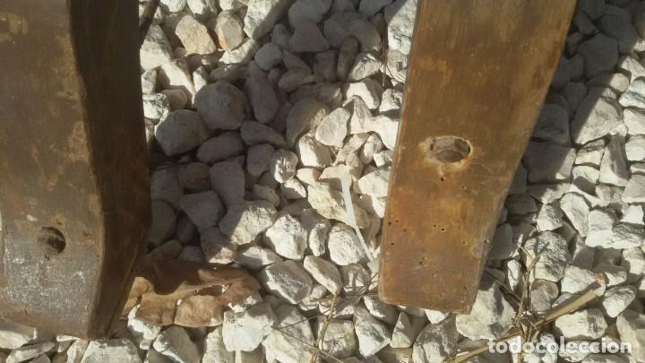 Antigüedades: 6 sillas frailero catalan siglo xviii. madera y cuero. - Foto 5 - 107919671