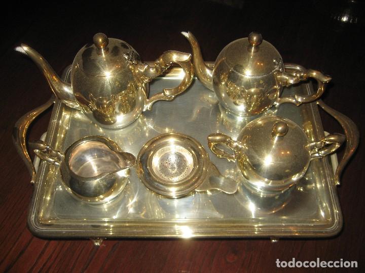 Antigüedades: JUEGO DE TÉ DE ALPACA PLATEADA - Foto 2 - 107942051