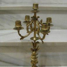 Antigüedades: CANDELABRO ANTIGUO DE BRONCE. Lote 107965079