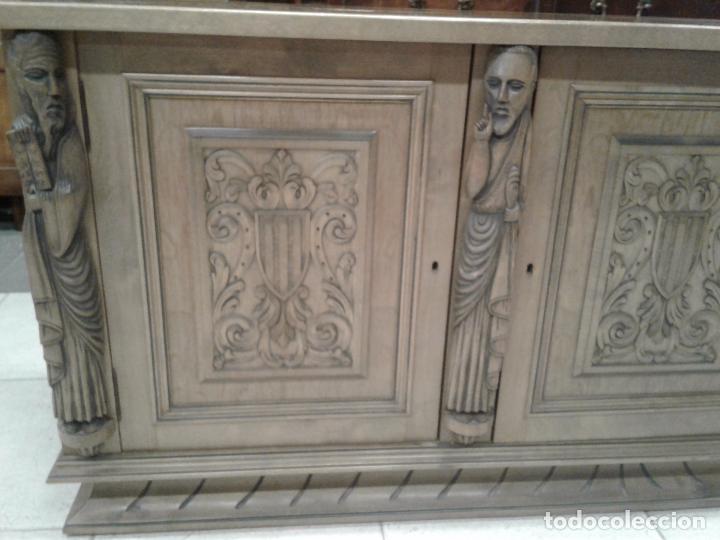 Antigüedades: Increíble Buffet aparador de talla oriental. - Foto 4 - 107977327