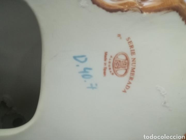Antigüedades: Pareja ángeles músicos porcelana algora en perfecto estado - Foto 7 - 112960463