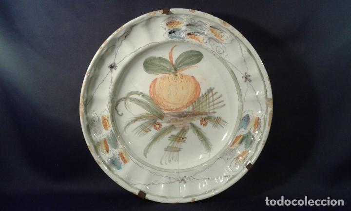 PLATO CERÁMICA. RIBESALBES. VALENCIA. SIGLO XIX. (Antigüedades - Porcelanas y Cerámicas - Ribesalbes)