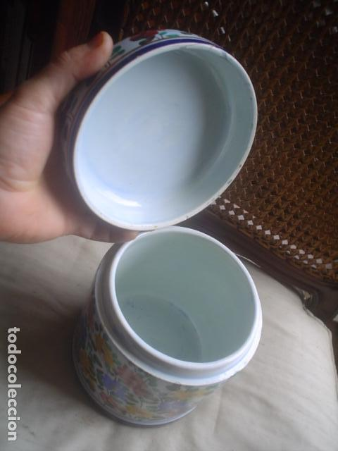 Antigüedades: caja en porcelana marca outeiro portugal 1 - Foto 2 - 107999691
