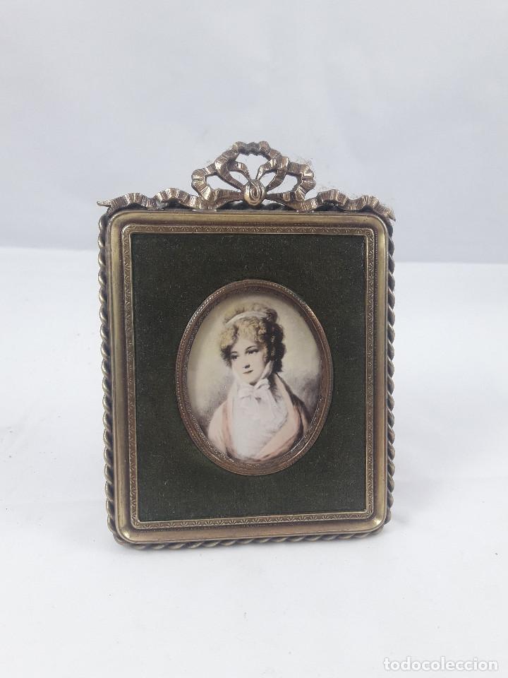 antiguo mini cuadro pequeño, con retrato, 9 x 1 - Comprar Marcos ...