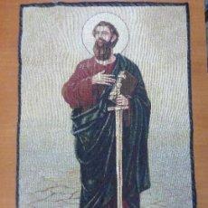 Antigüedades: SAN PAOLO APOSTOLO-SAN PABLO APÓSTOL- PRECIOSA TELA O TAPIZ MADE IN ITALY-PERFECTO ESTADO-50 X 70 CM. Lote 108040515