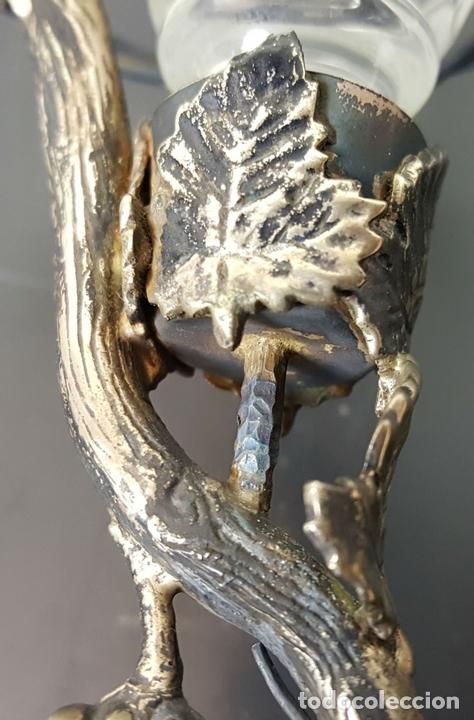 Antigüedades: COPA DE JEREZ. CRISTAL TALLADO. PIE DE METAL PLATEADO. CIRCA 1950. - Foto 9 - 108041375