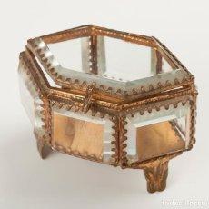 Antigüedades: JOYERO DE METAL DORADO.PRIMERA MITAD SXX.. Lote 108045715