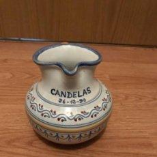 Antigüedades: JARRA DE TALAVERA CANDELAS FIRMADA. Lote 108059315
