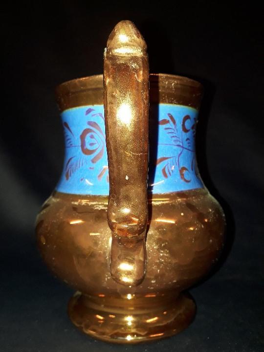 Antigüedades: JARRA. CERÁMICA DORADA. BRISTOL. 17 CM. REFLEJOS DORADOS. - Foto 4 - 112533792