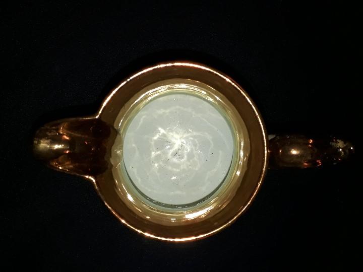 Antigüedades: JARRA. CERÁMICA DORADA. BRISTOL. 17 CM. REFLEJOS DORADOS. - Foto 5 - 112533792