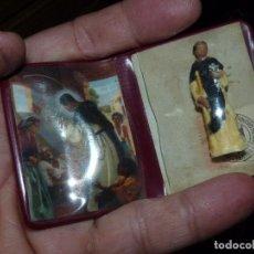 Antigüedades: RELIQUIA EX INDUMENTIS CARTERA ESCAPULARIO RELICARIO SAN MARTIN PORRES FRAY ESCOBA. Lote 222736130