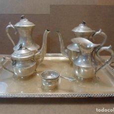 Antigüedades: JUEGO DE CAFÉ Y TÉ EN ALPACA. Lote 108136883