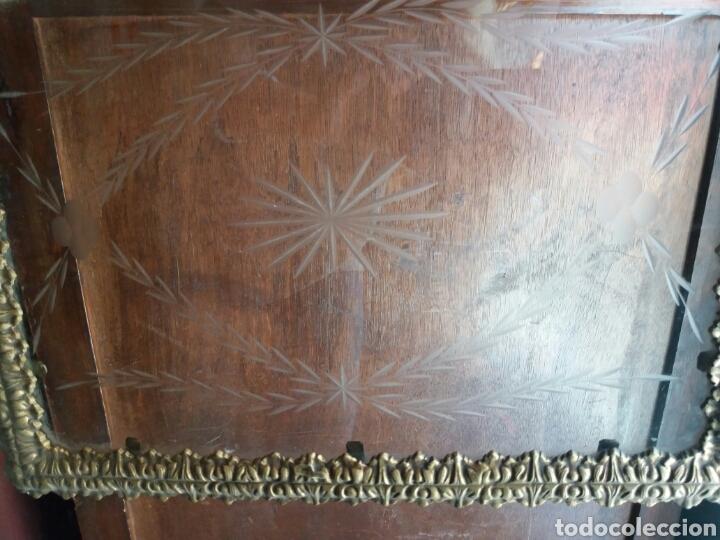 Antigüedades: BANDEJA DE BRONCE Y CRISTAL TALLADO - Foto 4 - 108234824