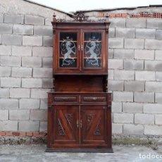 Antigüedades: APARADOR CHINERO ANTIGUO ESTILO ALFONSINO. ALACENA VITRINA ANTIGUA ESTILO ALFONSINO RÚSTICO.. Lote 108236111