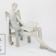 Antiquitäten - Figura de Porcelana Biscuit Lladró - Don Quijote - Salvador Furió - Gran Formato, 46 x 23 x 37,5 cm - 108243975