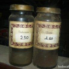 Antigüedades: ANTIGUOS TARROS DE CRISTAL – PROVIENEN DE UN ANTIGUO HERBOLARIO DE BARCELONA – CERCA DE 100 AÑOS. Lote 108254827