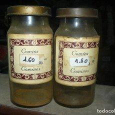Antigüedades: ANTIGUOS TARROS DE CRISTAL – PROVIENEN DE UN ANTIGUO HERBOLARIO DE BARCELONA – CERCA DE 100 AÑOS. Lote 108261855