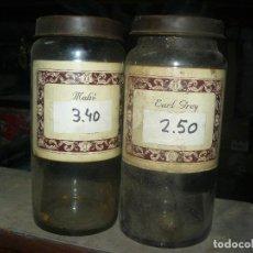 Antigüedades: ANTIGUOS TARROS DE CRISTAL – PROVIENEN DE UN ANTIGUO HERBOLARIO DE BARCELONA – CERCA DE 100 AÑOS. Lote 108264455