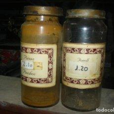 Antigüedades: ANTIGUOS TARROS DE CRISTAL – PROVIENEN DE UN ANTIGUO HERBOLARIO DE BARCELONA – CERCA DE 100 AÑOS. Lote 108264783