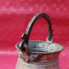 Antigüedades: ANTIGUO CUBO CUBETA JARRA COBRE. Lote 108275903