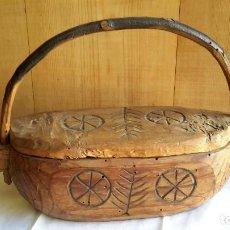 Antigüedades: ARTE POPULAR PASTORIL. SALERO--ESPECIERO.. Lote 108294327