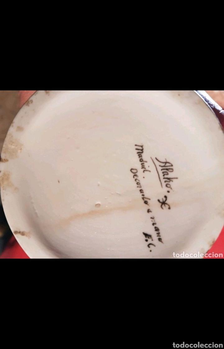 Antigüedades: Botella de Jerez en porcelana pintada a mano S.XIX - Foto 3 - 107440891