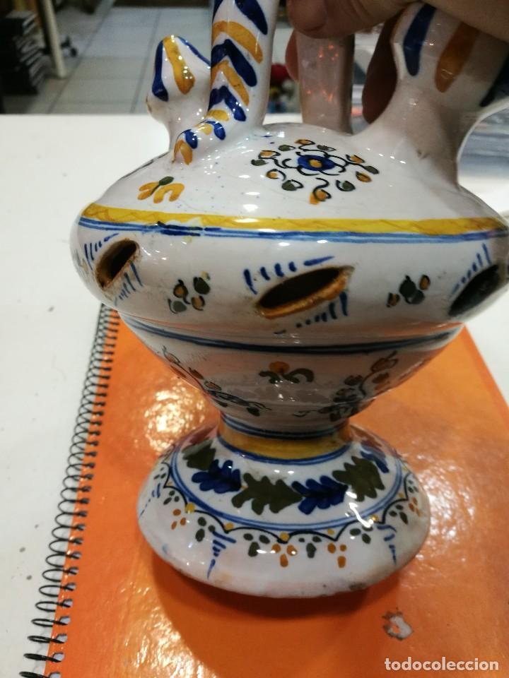 Antigüedades: Talavera botijo antiguo ¡Espectacular! - Foto 5 - 108304819