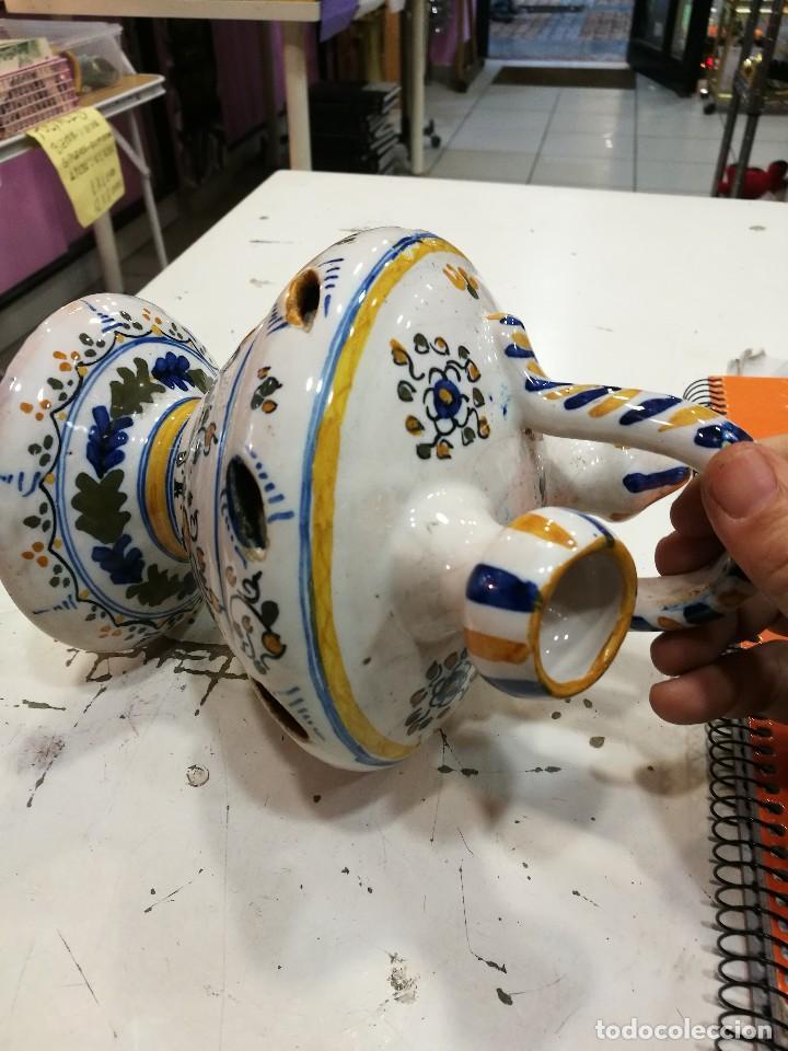Antigüedades: Talavera botijo antiguo ¡Espectacular! - Foto 8 - 108304819