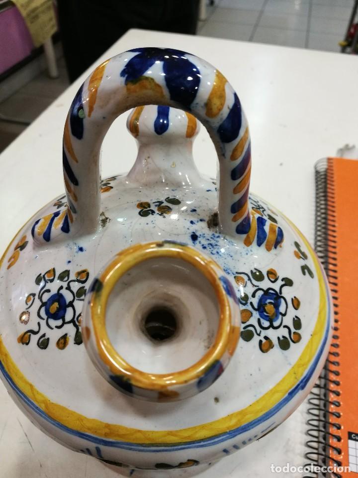 Antigüedades: Talavera botijo antiguo ¡Espectacular! - Foto 10 - 108304819