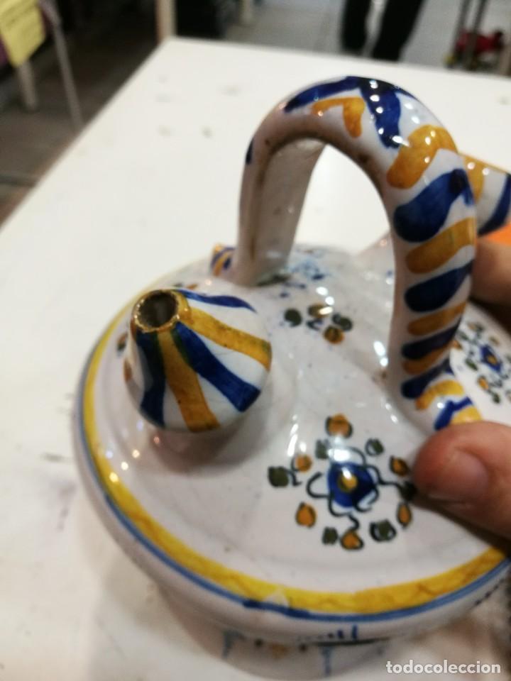 Antigüedades: Talavera botijo antiguo ¡Espectacular! - Foto 11 - 108304819