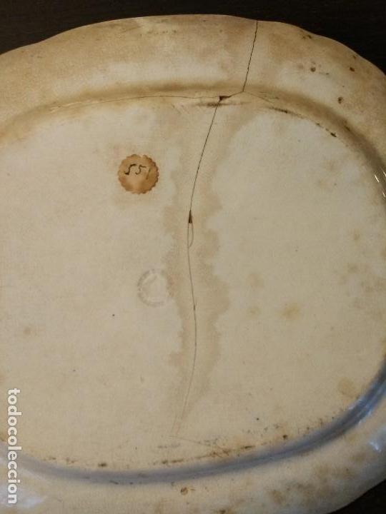 Antigüedades: BANDEJA SARGADELOS 34,5 X 30 SIGLO XIX VISTAS IMAGINARIAS COLOR AZUL COBALTO - Foto 4 - 108308055