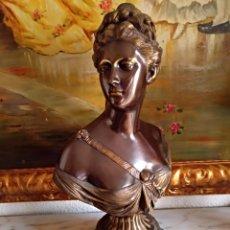 Antigüedades - Precioso busto de bronce macizo - 108312730