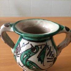 Antigüedades: JARRON-CERAMICA-TERUEL-PUNTER. Lote 108323587