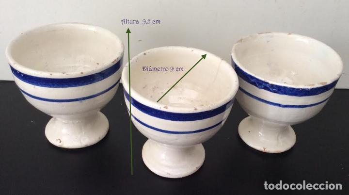 CERÁMICA VASCA ,ANTIGUAS COPAS EN CERÁMICA VASCA VIDRIADA (Antigüedades - Porcelanas y Cerámicas - Otras)