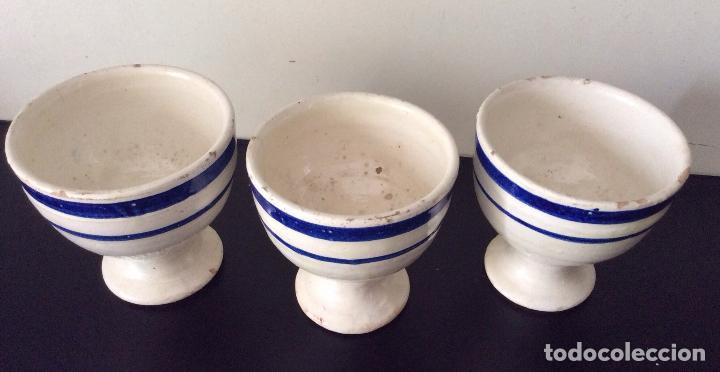 Antigüedades: CERÁMICA VASCA ,ANTIGUAS COPAS EN CERÁMICA VASCA VIDRIADA - Foto 3 - 108335795