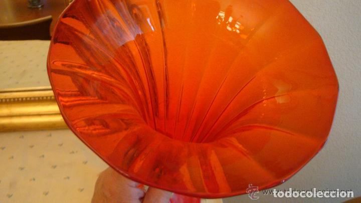 Antigüedades: 35 cmts, copa cristal frances.Centro de mesa. siglo XIX - Foto 3 - 108342159