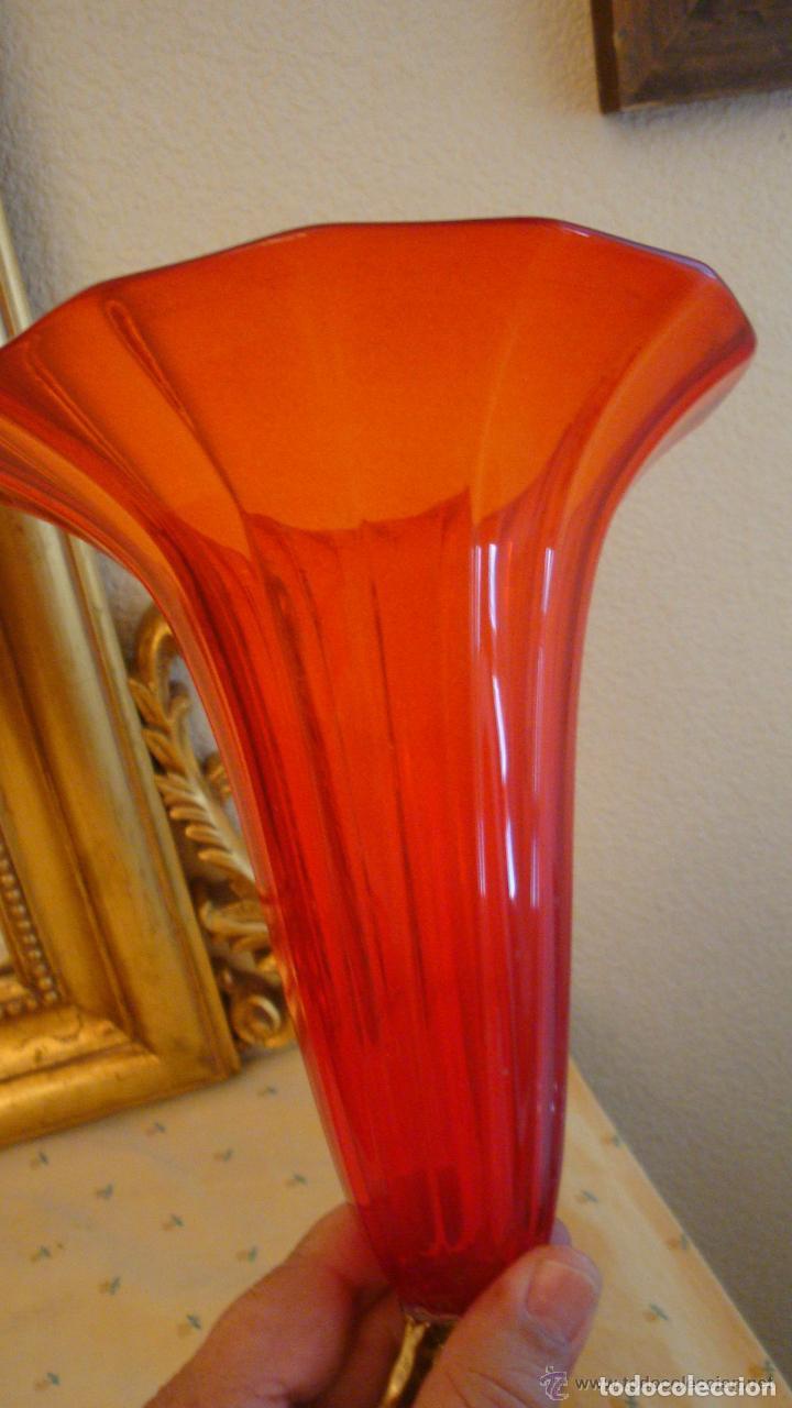 Antigüedades: 35 cmts, copa cristal frances.Centro de mesa. siglo XIX - Foto 4 - 108342159