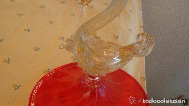 Antigüedades: 35 cmts, copa cristal frances.Centro de mesa. siglo XIX - Foto 6 - 108342159
